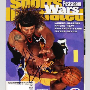 Lakers Kobe Bryant & Portlands Bryant Grant Signed Sports Illustrated Cover (only) (PSA Full LOA)