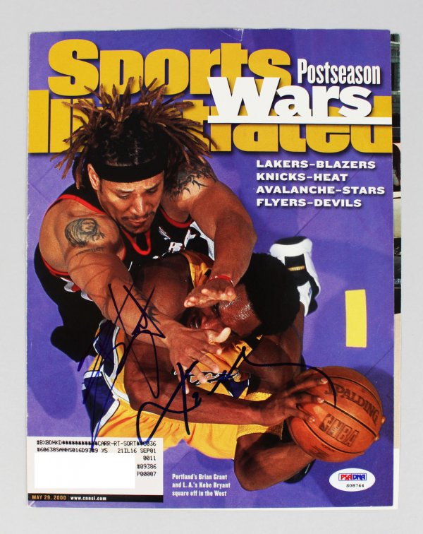 Lakers Kobe Bryant and Portlands Bryant Grant Signed Sports Illustrated Cover (only) (PSA Full LOA)