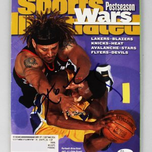 Lakers - Kobe Bryant Signed Sports Illustrated Full Magazine - COA JSA Sticker