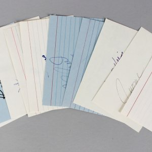 Portland Trailblazers Signed 3x5 Index Card Lot (10) - Bill Walton, Clyde Drexler, Terry Porter etc. (JSA)