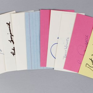 NBA Coach's Signed 3x5 Index Card Lot (10) - Riley, Brown, Chaney etc. (JSA)