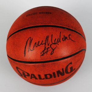 Philadelphia 76ers - Moses Malone Game-Used, Signed Official Basketball - JSA