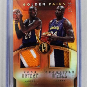 2015-16 Panini Gold Standard - Lakers - Kobe Bryant & Shaq O'Neal Dual Patch Game-Used Jersey Card 12/25