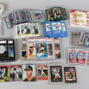Mega Oakland A's Mark McGwire Card Lot Feat. Rookies, Minor League, Inserts, Sets, Graded etc.