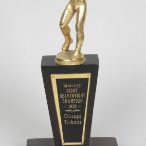 Best of the Best! March 25, 1959 - Cassius Clay Golden Gloves Inter-City Bouts Championship Trophy - Clay's First National Overall Tournament Win at Chicago Stadium (O'Brien Muhammad Ali Boxing Collection - Obtained Directly From Ali) COA Craig Hamilton