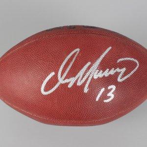 """Miami Dolphins - Dan Marino Signed & Inscribed """"13"""" Football (JSA COA)"""