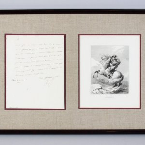 March 10, 1812 - Emperor Napoleon Bonaparte Signed Letter 15x23 Display - JSA Full LOA