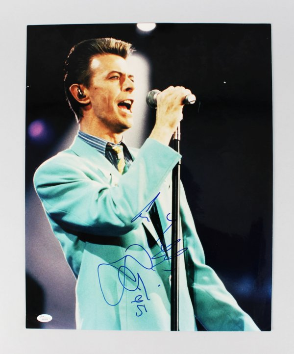 "David Bowie Signed 16x20 Concert Photo Inscribed ""95"" (JSA Full LOA)"