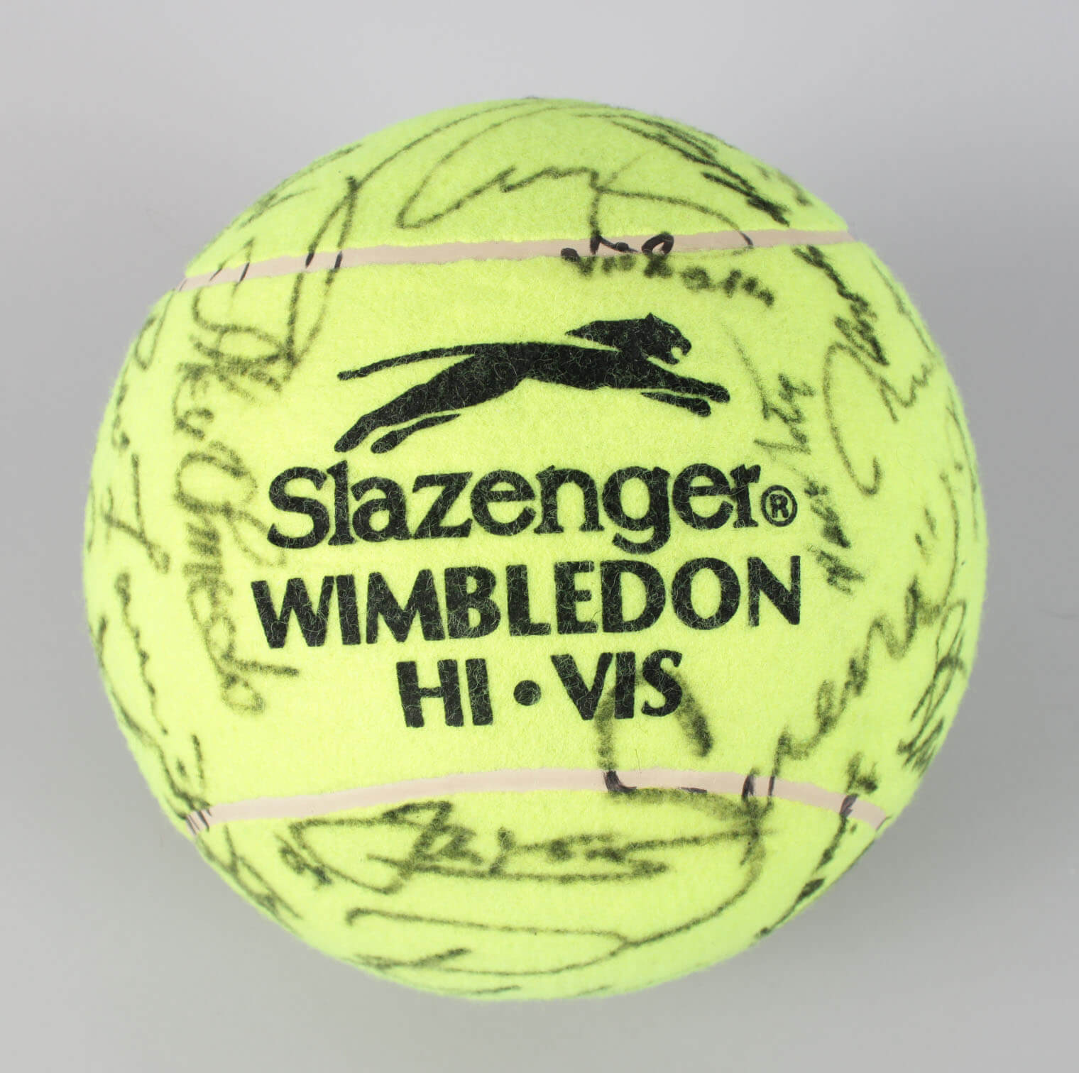 Wimbledon Winners Serena & Venus Williams, Agassi, McEnroe Multi-Signed Oversized Tennis Ball 30+etc. JSA Full LOA