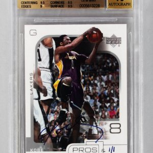 2001-02 Upper Deck Pros & Prospects Kobe Bryant Signed 1/1 Card BGS Graded GEM MINT 9.5 ('02-03 Buyback)