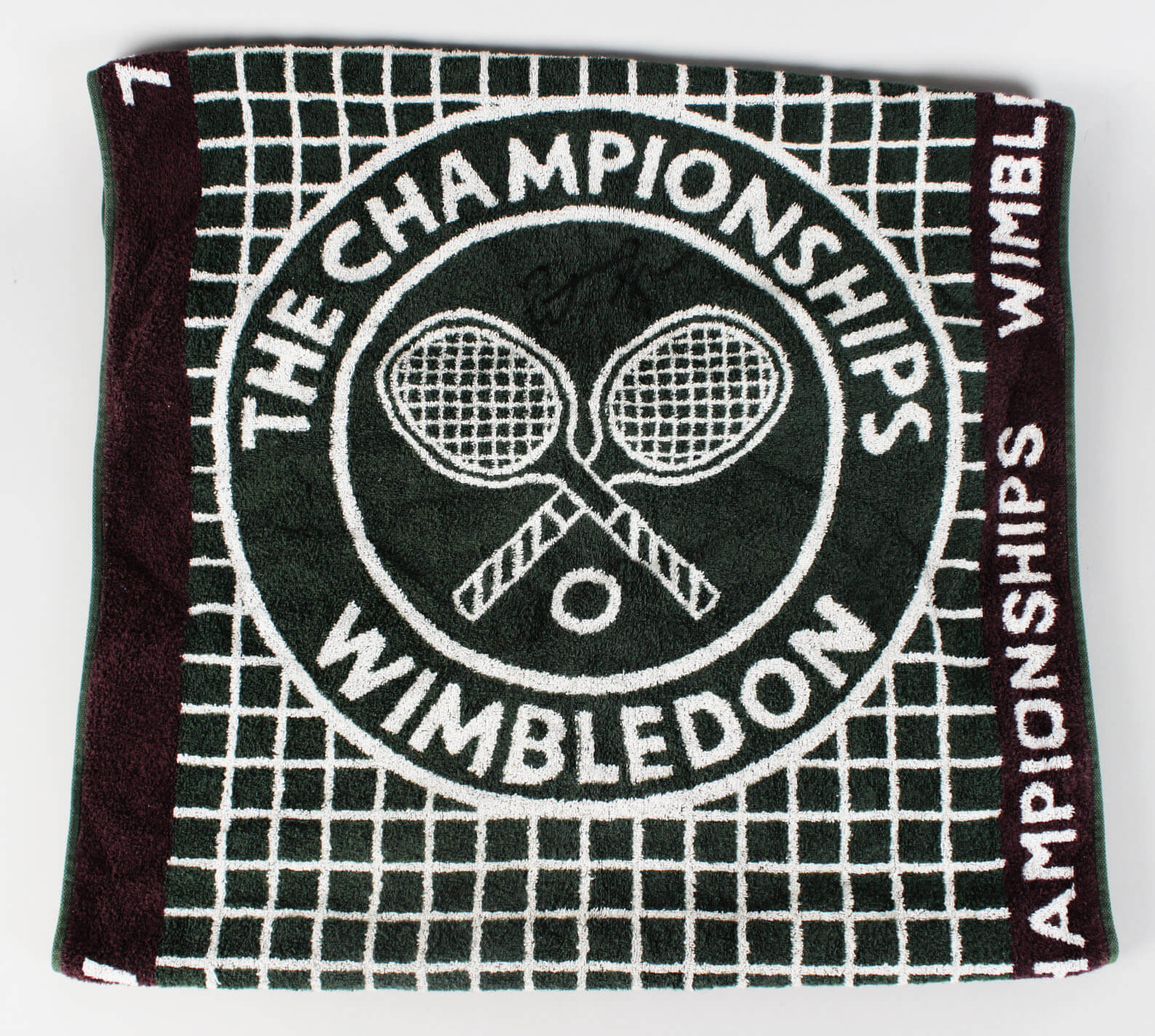 1997 Wimbledon Champion - Pete Sampras Match-Used, Signed Towel- COA JSA
