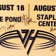 "Van Halen Signed ""The Pond"" Concert Poster - Eddie Van Halen, Alex Van Halen, Michael Anthony, Sammy Hagar (JSA Full LOA)"