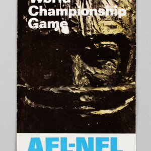 "Rare 1967 Super Bowl I ""AFL-NFL World Championship Game"" Packers vs Chiefs Ticket"