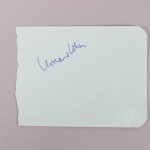 Rock'n Roll Hall Fame - Leonard Cohen Signed 3x5 Vintage Cut- COA JSA