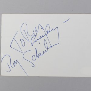 Jaws - Roy Scheider Signed & Inscribed 4x6 Vintage Album Page Cut- COA JSA