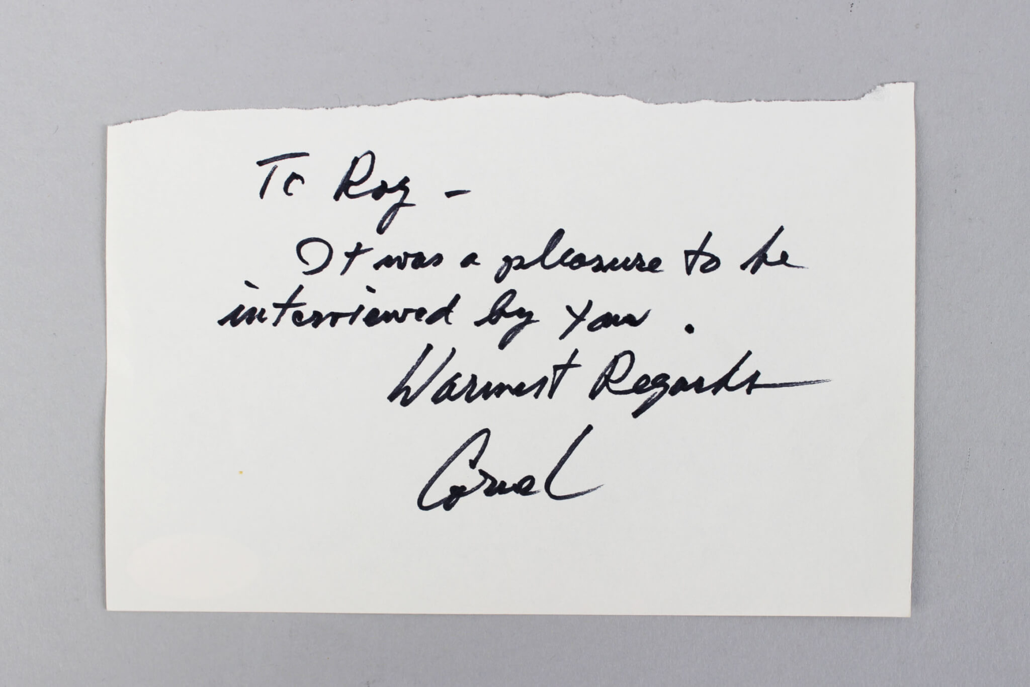 A Song To Remember – Cornel Wilde Signed & Inscribed 4×6 Cut- COA JSA59092_01