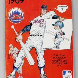 1969 Mets World Series Program (w/Game 3 Ticket Stub - Nolan Ryan's only W.S. Appearance)