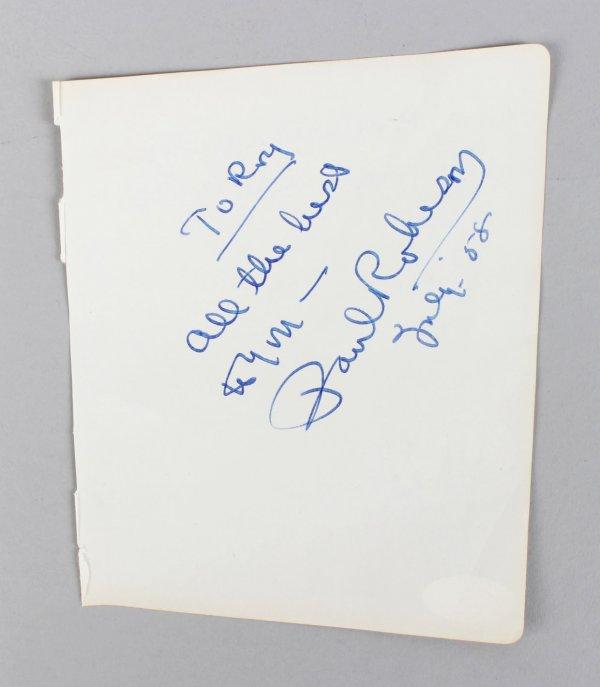 Paul Robeson & Mazo De La Roche Signed 5x6 Vintage Album Page Cut- COA JSA