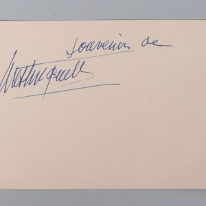 French Actress - Mistinguett Signed 4x6 Vintage Album Page Cut- COA JSA