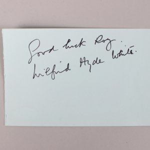 My Fair Lady - Wilfrid Hyde-White Signed & Inscribed Vintage Cut- COA JSA