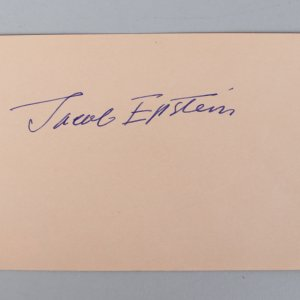 Sculptor - Sir Jacob Epstein Signed 4x6 Vintage Album Page Cut- COA JSA