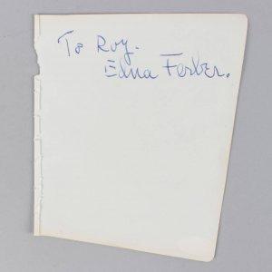 Pulitzer Prize Winner - Edna Ferber Signed 5x6 Vintage Cut- COA JSA