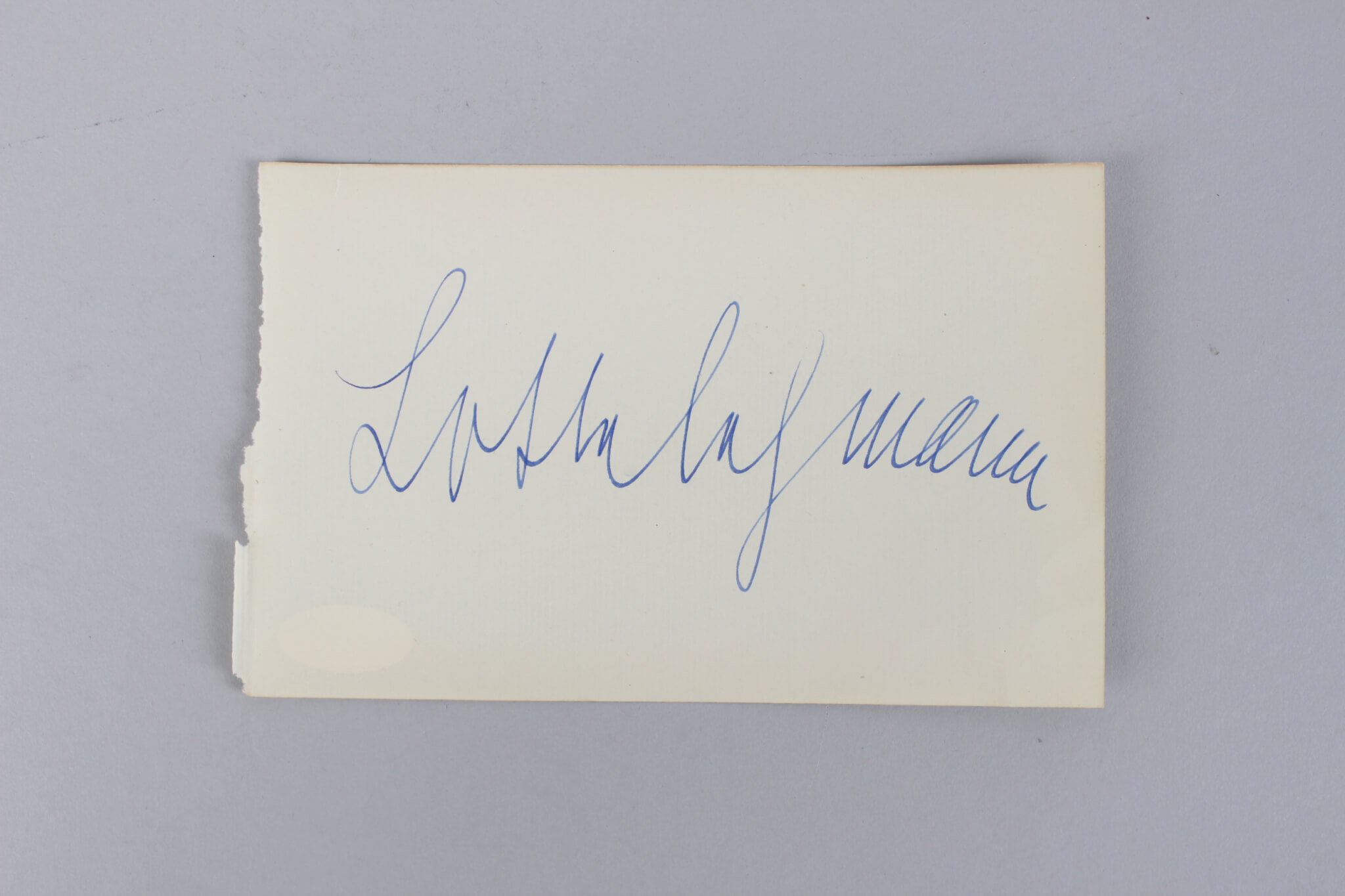 From Russia with Love – Lotte Lenya Signed 4×6 Vintage Cut- COA JSA59132_01