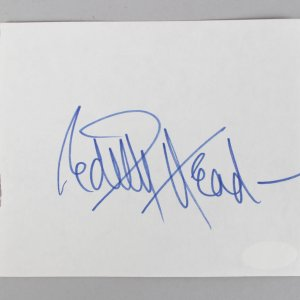 The Heiress - Edith Head Signed 4x5 Vintage Album Page Cut- COA JSA