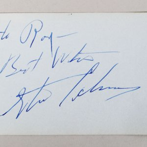 Actor - Steve Cochran Signed & Inscribed 3x5 Vintage Cut- COA JSA