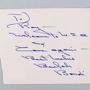 It's a Wonderful Life - Beulah Bondi Signed & Inscribed 3x5 Cut- COA JSA