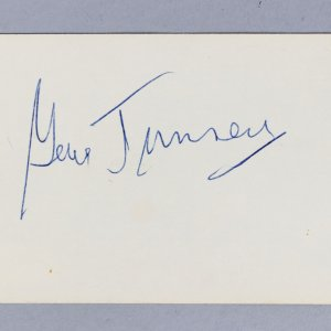 1926-28 World Heavyweight Boxing Champion Gene Tunney Signed 3x5 Index Card - COA JSA