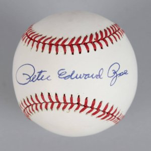 Cincinnati Reds - Peter Edward Rose (Full Name) Signed ONL Baseball- COA JSA