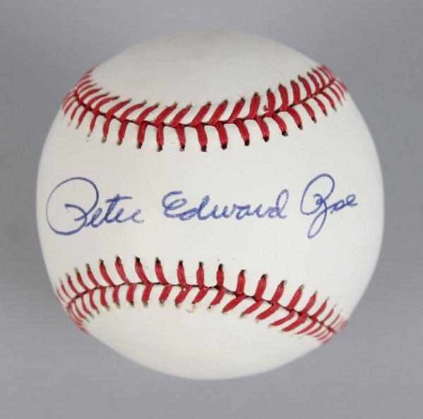 Cincinnati Reds - Pete Edward Rose Signed ONL Baseball- COA JSA