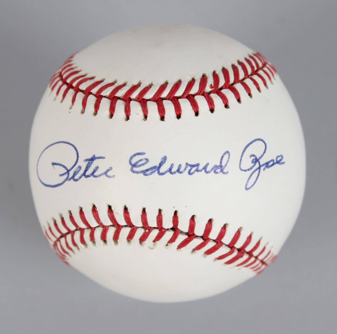 Cincinnati Reds – Pete Edward Rose Signed ONL Baseball- COA JSA59386_01