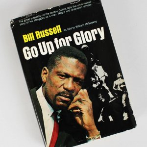 "Boston Celtics - Bill Russell Signed & Inscribed ""Go Up For Glory"" Book- COA JSA"