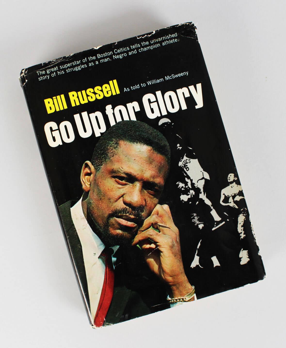 "Boston Celtics - Bill Russell Signed & Inscribed ""Go Up For Glory"" Book- COA JSA"