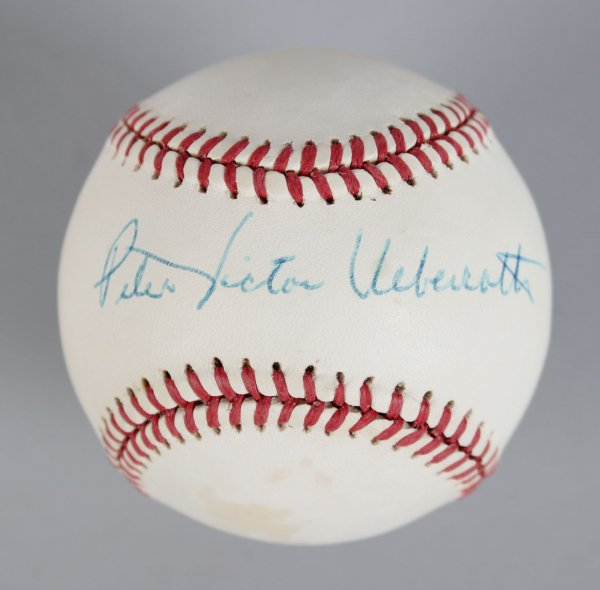 Commissioner - Peter Ueberroth Signed OAL Baseball- COA JSA