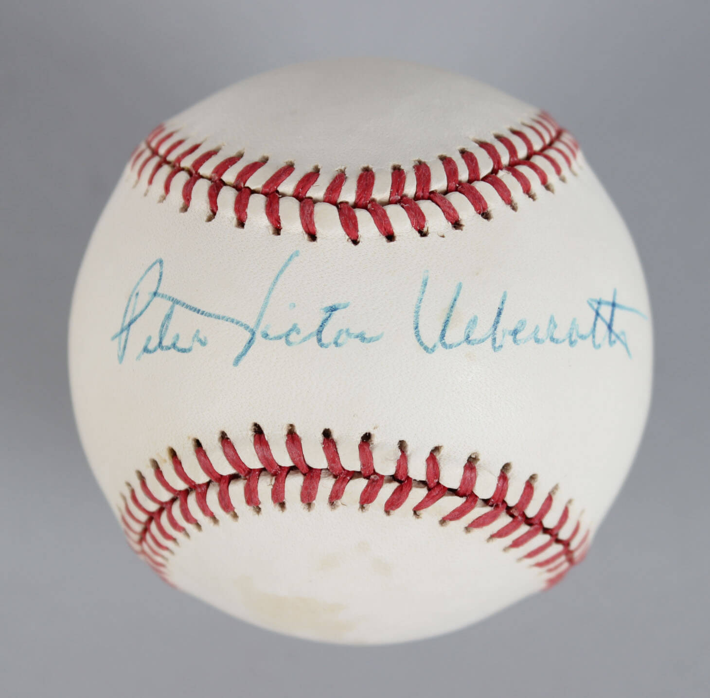 Commissioner – Peter Ueberroth Signed OAL Baseball- COA JSA59389_01