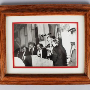Boxing - The Greatest of All Time! - Muhammad Ali Signed 8x10 Wire Photo feat. Joe Louis - JSA Full LOA