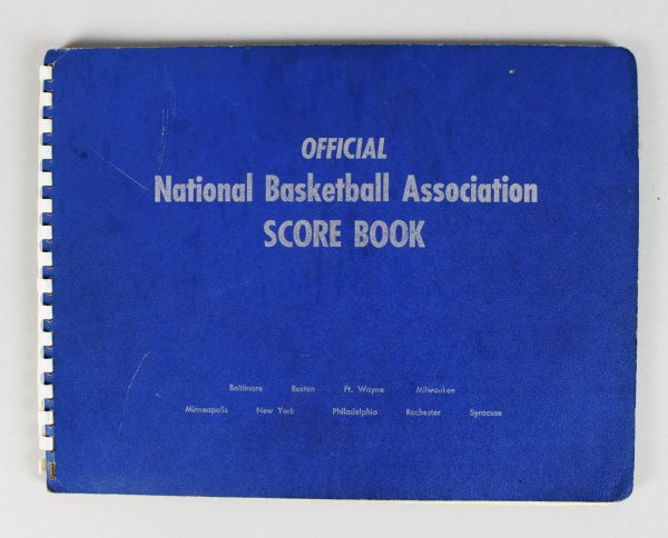 1955-56 Philadelphia Warriors Championship Official NBA Scorebook sourced from Official Scorekeeper Dave Richter!