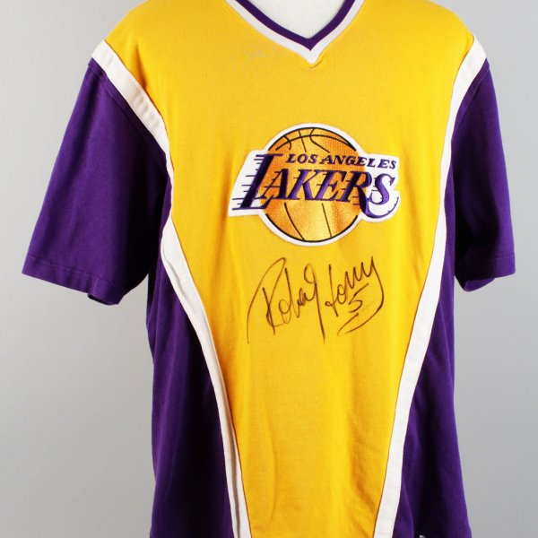 Robert Horry 96-97 Signed Game-Worn Shooting Shirt with Lakers Auction House Hologram - JSA