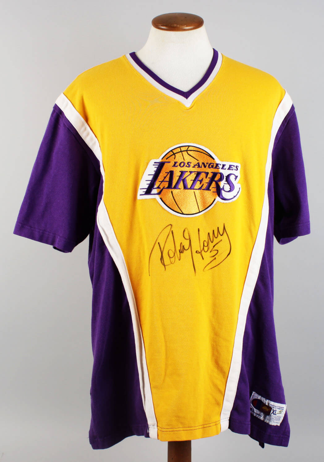 Robert Horry  Lakers  Signed Game-Worn