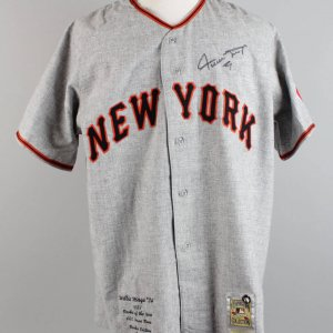 New York Giants - Willie Mays Signed Authentic Jersey- JSA Full LOA & Player Holo