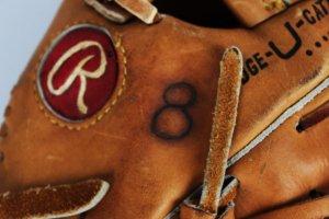 cal ripken jr. game used glove