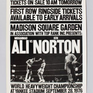 Sept. 28,  1976 - Muhammad Ali vs. Ken Norton at Yankee Stadium 16-1/2 x 26 Broadside (Futch Collection)