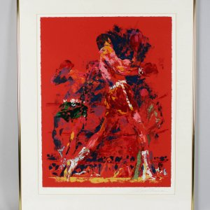 "Eddie Futch Personal1973 Leroy Neiman's Signed The Red Boxer (AP) Ali vs Joe Frazier ( ""The Fight Of The Century"""