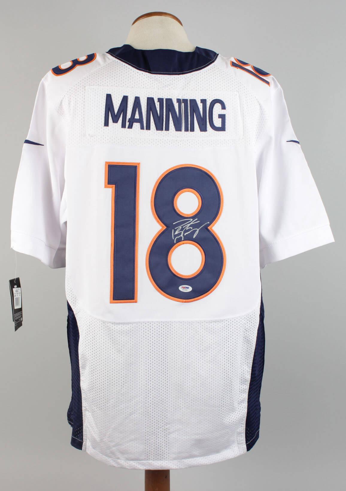 best service 4cad1 6a8c7 Denver Broncos - Peyton Manning Signed Jersey - COA PSA/DNA