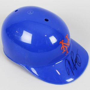 Mike Piazza NY Mets - HOFer - Signed Kid's Batting Helmet - COA Show Ticket