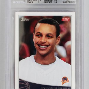 2009-10 Topps - Warriors Stephen Curry Rookie Card (#321) Beckett Graded 9 MINT