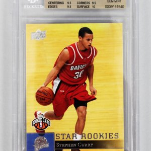 2009-10 Upper Deck SP - Warriors Stephen Curry Rookie Card (#234) Beckett Graded 9.5 GEM MINT